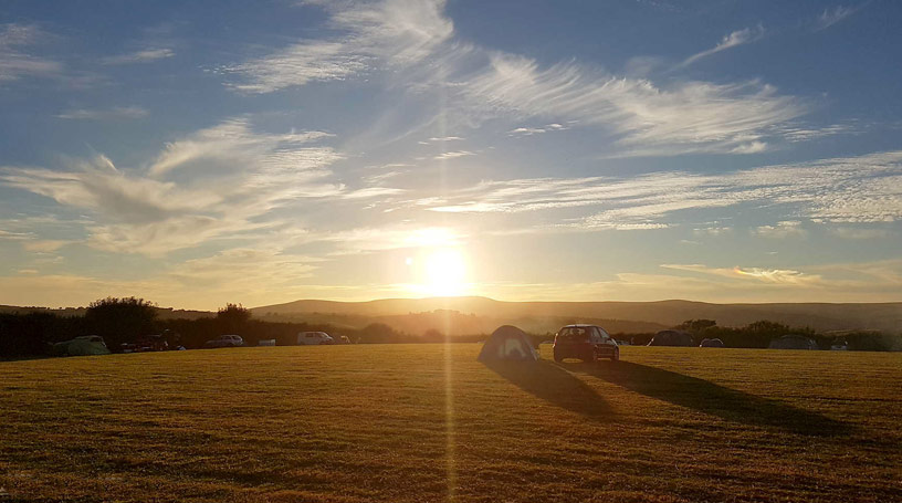 Sunset at Holsome Park Campsite
